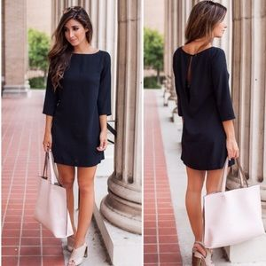 Leith (Nordstrom's) Black shift dress